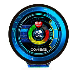 AUO 1.4'' circular AMOLED display