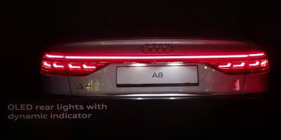 Audi A8 Oled Rearlights Photo The New S Front Lighting