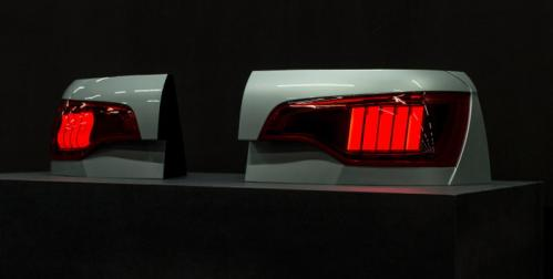 Audi Q7 model OLED tail light photo