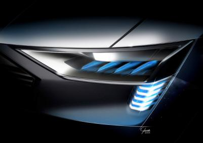 Audi e-tron Quattro concept frontlight photo