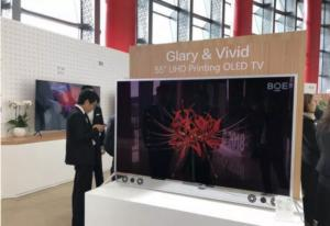 BOE 55'' printed OLED TV prototype (IPC-2018)