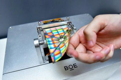 BOE Flexible AMOLED prototype photo