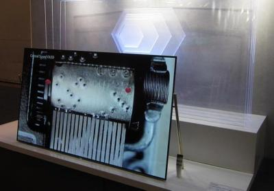 Changhong Acoustic Surface OLED TV prototype (CES 2018)