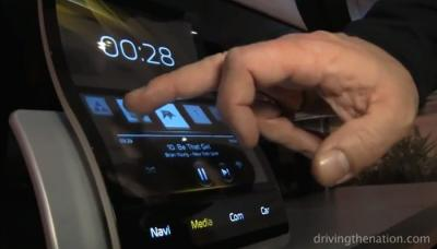 Continental flexible AMOLED based car display prototype