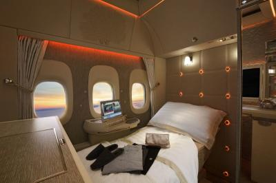 Emirates - first class suite with virtual windows