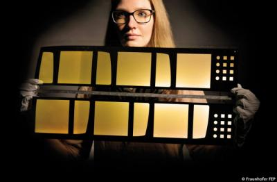 Large-area OLED glass-on-glass lamination (Fruanhofer)