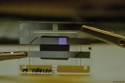 Fraunhofer UV-OLED device prototype photo