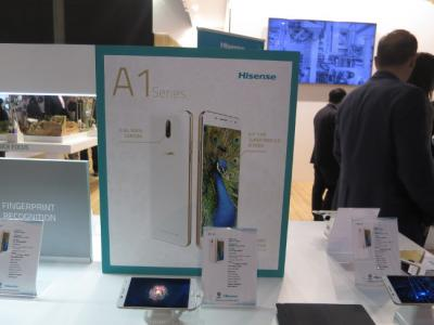 HiSense A1 with brochure