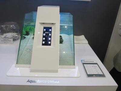 SDC Aquaforce sensor AMOLED at SID 2018