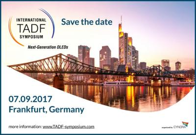 International TADF Symposium 2017 (save the date banner)