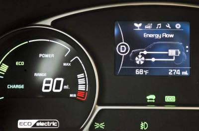 kia 39 s 2015 soul ev uses a 3 5 white pmoled display oled info. Black Bedroom Furniture Sets. Home Design Ideas