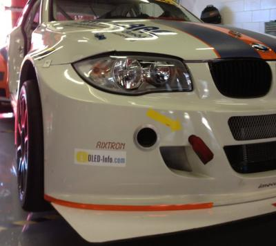 Kuepperracing BMW with OLED-Info sticker photo