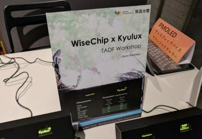 Wisechip Hyperfluoresence TADF emitters demonstration (TADF Workshop 2017)