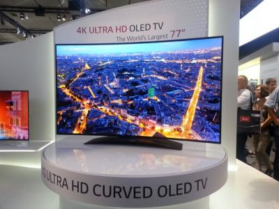 lg shows a 77 curved uhd oled tv prototype oled info. Black Bedroom Furniture Sets. Home Design Ideas