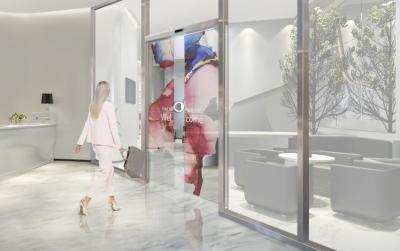 Transparent OLED automatic doors ,LGD and Assa Abloy