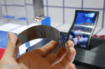 Flexible AMOLED prototype, LG Display