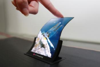 LG 5'' flexible OLED prototype photo