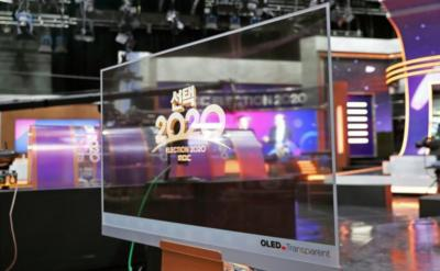 LG Display transparent OLEDs at MBC Studio, Korea Electroni 2020