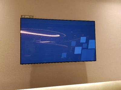LG OLED TV at Incheon airport - burn-in photo