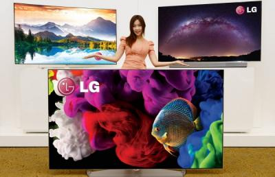 LG OLED TVs at CES 2015