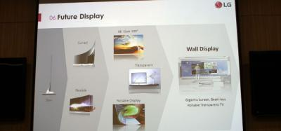 LG OLED TV future roadmap 2015 slide