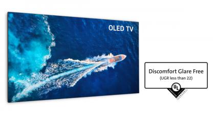 LGD OLED TV Discomfort Glare Free UL Verification photo