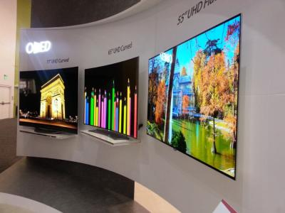 LG Display OLED TV panels at SID 2015
