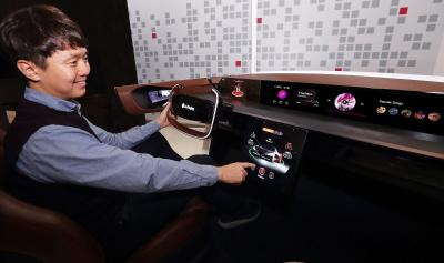 LGD automotive OLED demonstrator CES 2020
