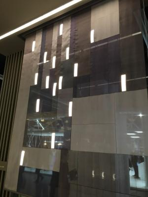 LGD OLEDs integrated into a silk curtain at L+B 2016
