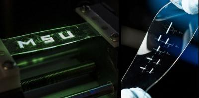 Stretchable printed OLED prototype (MSU)
