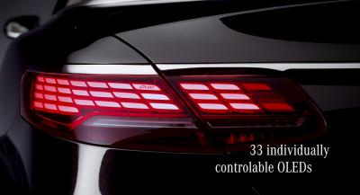 Mercedes 2017 S-Class Coupe and Cabriolet OLEDs taillights teaser