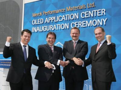 Merck Korean OLED application center ceremony