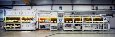 The Fraunhofer IAP OLED production line (Potsdam)