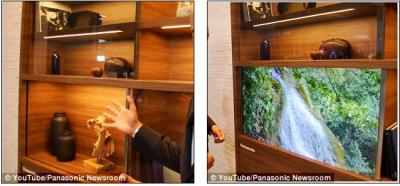Panasonic transparent OLED TV demo photo (2016)