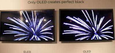 Philips/TPVision OLED vs LCD demonstration