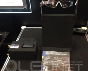 Pioneer curved transparent OLED for AR (Wearable Expo Japan 2018)