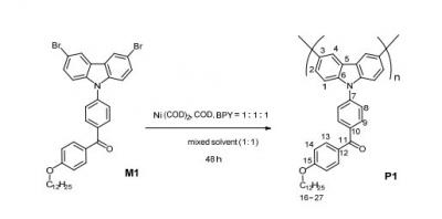 Polymer-TADF synthesis final step