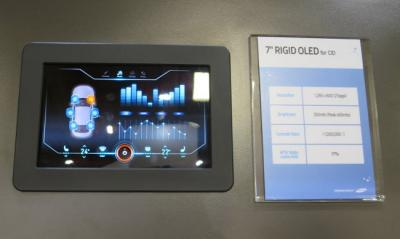 SDC 7'' rigid automotive OLED at SID 2016