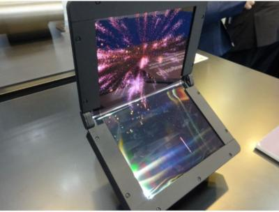 SEL 8.6'' foldable OLED prototype (Dec 2018)