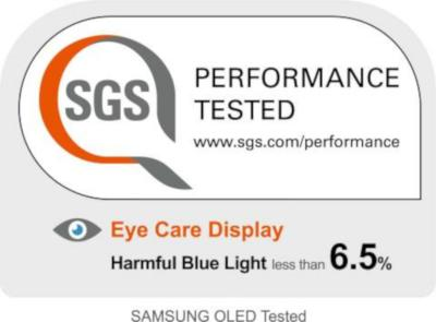 SGS 6.5% blue light emission, Samsung 5G OLED photo