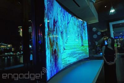 lg shows a 77 bendable uhd oled tv at ces oled info. Black Bedroom Furniture Sets. Home Design Ideas