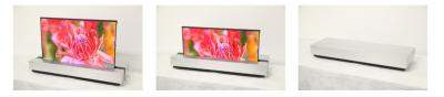Sharp's 30'' 4K direct-emission rollable OLED prototype