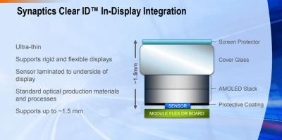 Synaptics Clear ID under-the-OLED sensor structure