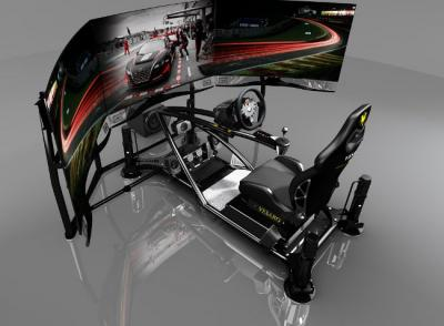 vesaro launches a racing game simulator with three 55 quot lg