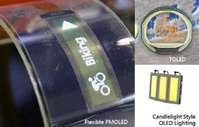 Flexible and transparent OLED prototype (Wisechip, August 2016)