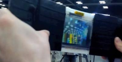 Flexcam prototype flexible OLED camera photo