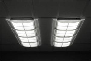 Armstrong and UDC white OLED lighting ceiling system photo