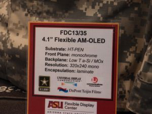 FDC 4.1'' monochrome flexible OLED spec