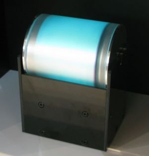 Fujitec cylindrical blue OLED photo
