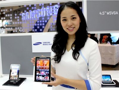 Samsung 7'' Super-AMOLED in a galaxy-tab prototype